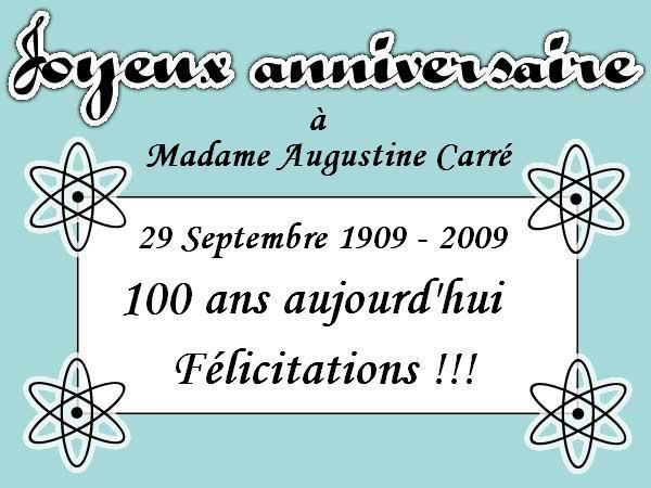 Par Pierre Sternberger Bon Anniversaire A Madame Augustine Carre