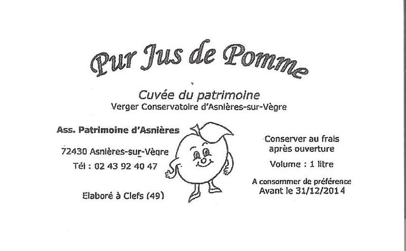 Assez par Pierre Sternberger - Vente de Jus de Pomme du Verger Conservatoire KT09